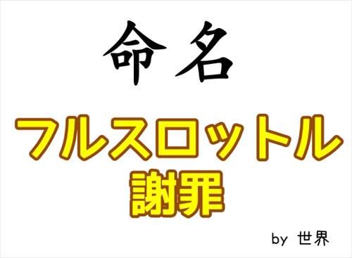 【フルスロットル謝罪命名記念】海外でも注目を集める野々村竜太郎議員のフルスロットル!